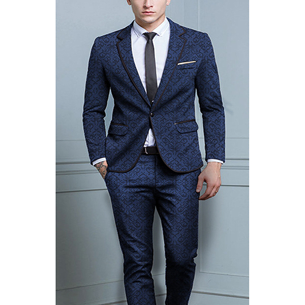8c7b74eb25b 2 Piece Suits Men British Latest Coat Pant Designs Royal Blue Mens ...