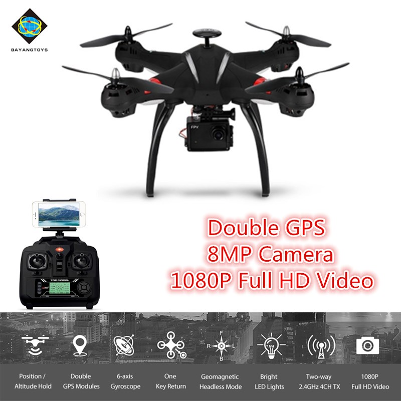 BAYANGTOYS X21 Brushless RC Quadcopter RTF WiFi FPV 8MP Camera 1080P Full HD/Follow Me Mode/Point of Interest camera drone original jjrc h28 4ch 6 axis gyro removable arms rtf rc quadcopter with one key return headless mode drone