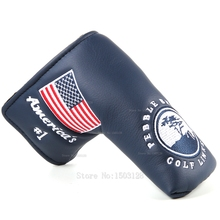 Nuovo USA Americano No.1 Bandiera Lungo LifeTree Bianco Copertura Putter di Golf Headcover Chiusura per Lama Putter di Golf di Trasporto libero