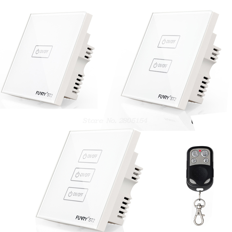 2017  New Uk Standard ST2 1/2/3 Gang Wireless Touch Remote Control Wall Light Switch Smart Home