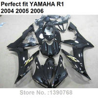 Fairing kit for Yamaha YZF R1 04 05 06 black bodywork parts fairings set YZFR1 2004 2005 2006 LV05