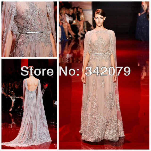 b05873690a ph03401 silver lace kaftan with lace application on bodice hem and skirt  elie saab haute couture evening dress dubai kaftan