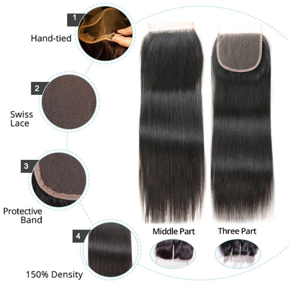 Black Pearl Straight Hair csomagok bezárása nem remy emberi haj 3 - Emberi haj (fekete) - Fénykép 5