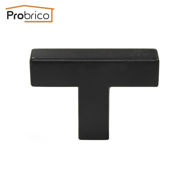 Probrico Black Cabinet Door Knob Square Bar Size12mm*12mm Stainless Steel  Length 50mm Furniture Drawer