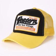 XCZJ Breathable Baseball Cap Cotton Embroidery Women Summer Mesh Hats Sun Beach Hat Casual Adjustable Unisex Snapback H059