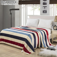 Home Textile Plaid Solid Air Sofa Bedding Throws Coral Flannel Blanket Autumn Winter Warm Soft Bedsheet