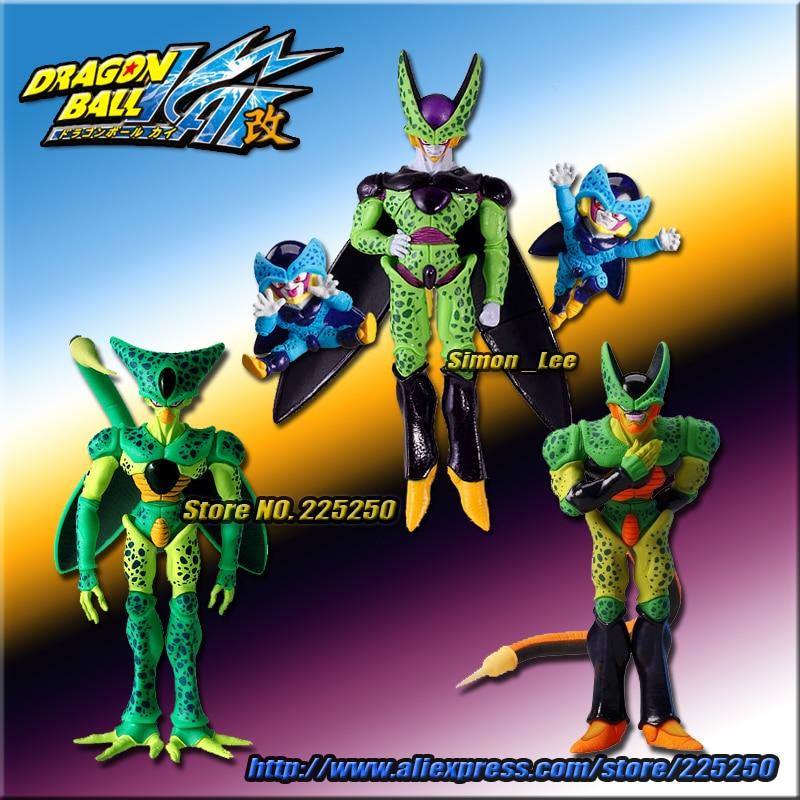 Japan Anime DRAGONBALL Dragon Ball Z/Kai Original BANDAI HG Gashapon PVC Toys Figure - Cell 3pcs & Cell Jr. 2pcs картридж canon 711y желтый [1657b002]