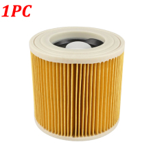где купить 1PC Replacement Air Dust Filter for Karcher Vacuum Cleaner Parts WD2250 WD3.200 MV2 MV3 WD3 A2004 A2204 Cartridge HEPA Filter дешево