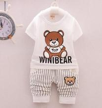 Summer Children Clothing 2019 Summer New Style Cotton Boy Kids Sport Suits Girls Clothing Set Tracksuits for Children QHX013