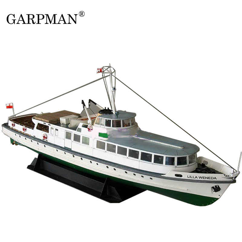 1:100 1:72 Cruise Yacht Ship Super Exquisite Contains Keel Internal Structure Paper Model