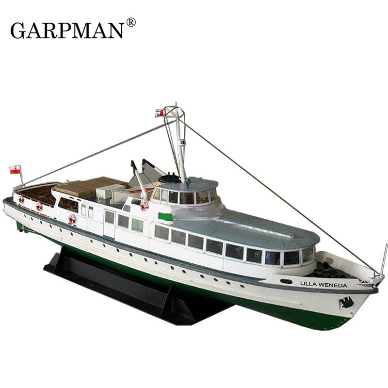 1:100 1:72 Cruise Yacht <font><b>Ship</b></font> Super Exquisite Contains Keel Internal Structure Paper Model image