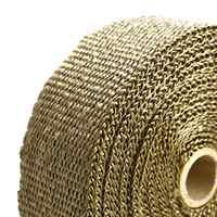 Горячая Розничная цена 10 м x 5 см x 1,5 мм выхлопная труба теплоизоляционная коллекторная лента для мотоцикла Авто волокно турбо Высокая тепло...