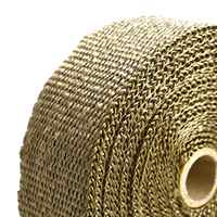 Hot Retail price 10m x 5cm x1.5mm Exhaust Tube Thermal Insulation Collector Tape Motorcycle Auto Fiber Turbo High Heat Wrap Tape