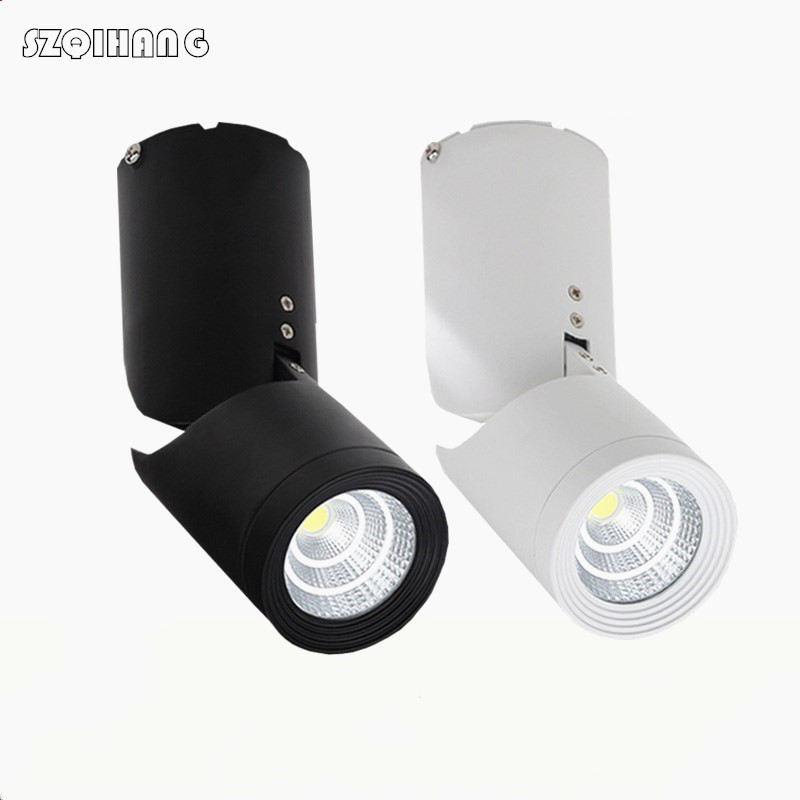 15W White shell/Black shell Surface Mounted Led Down Light Folding adjustable COB Led Ceiling Light No OPEN Led Down Light