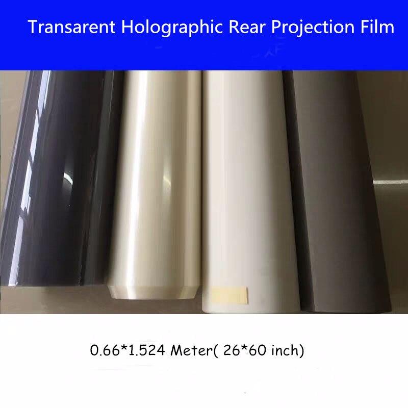 1 pièces 1.524*0.65 m 1 mètre carré publicité adhésif holographique Film de Projection arrière feuille de film 3D pour église de magasin de fenêtre