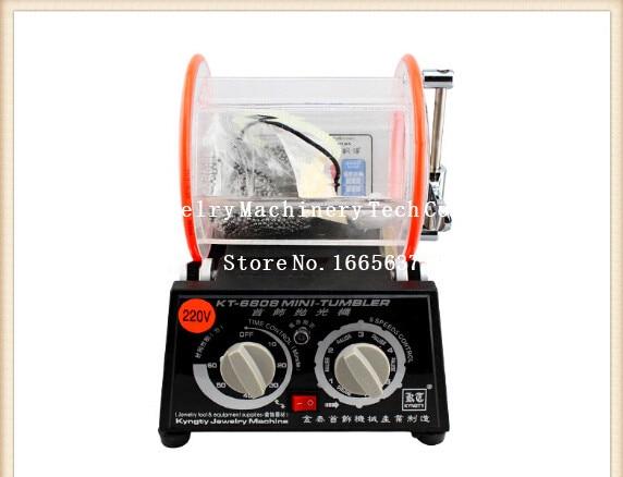KT-6808 Trommelpoliermaschine Schleifen Barrel Acryl Tumbler Schmuck Ausr/üstung 110V-220V