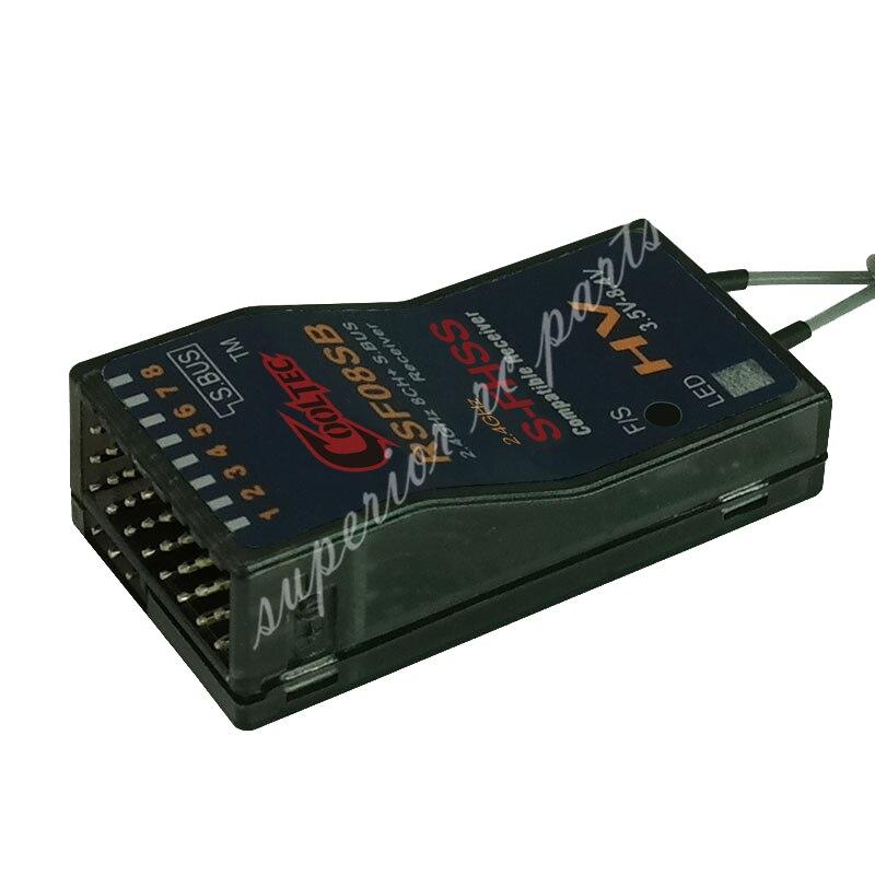 RSF08SB 8ch Futaba S-FHSS S autobús receptor Compatible para 10J 8J 6 k 6J 10J 14sg 18MZ WC 18SZ Frsky Delta 8 50%