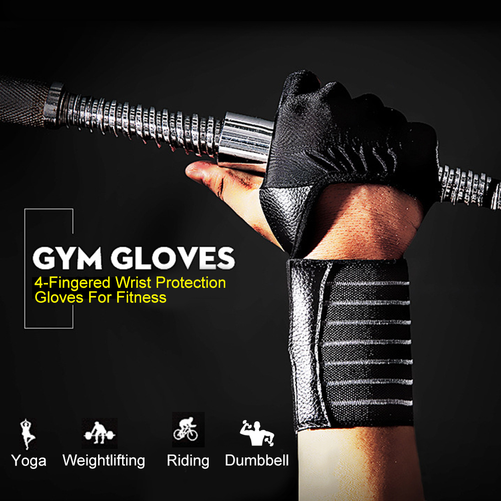 Weight Lifting Sport Gloves Dumbbell Barbell Gym Crossfit Fitness Gloves  Gymnastics Bar