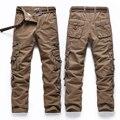 Мужской моды случайные длинные брюки карманные комбинезоны детей, чем мужской поле высокого качества военные брюки размер 28-40