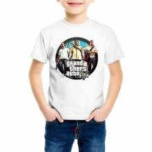 Grand Theft Auto Game GTA 5 Boys Summer T Shirts Cool GTA5 Girls TShirt Colorful Print Kids Tee Shirt Funny Clothing Z4-2