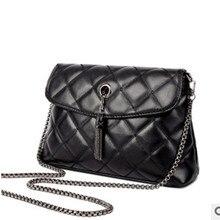 Die neue 2015 frauen PU schulter geneigt paket designer-handtaschen hohe qualität schwarz gesteppte innenfutter 27*22*16 cm