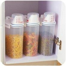 Стороны покрыты чашки 2 КГ зерна резервуары для хранения, с силиконовой кольцо запечатаны банок пищевой бак для хранения K4458