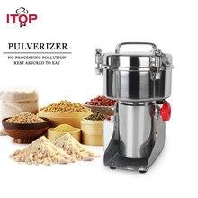 купить ITOP Professional 500g Pulverizer Stainless Steel Food Grain Grinder Chopper, Soybean Corn Herb Automatic Milling Pulverizer дешево