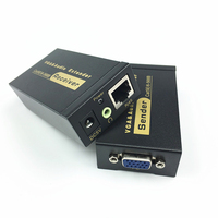 VGA UTP Extender VGA AV Extender Repeater With Audio By Cat5e 6 Cable Up To 100M