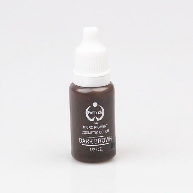 2pcs Dark Brown Biotouch Tattoo Ink Permanent Makeup Micro Pigment Set Eyebrow 3D Micoblading Tattoo Pigment
