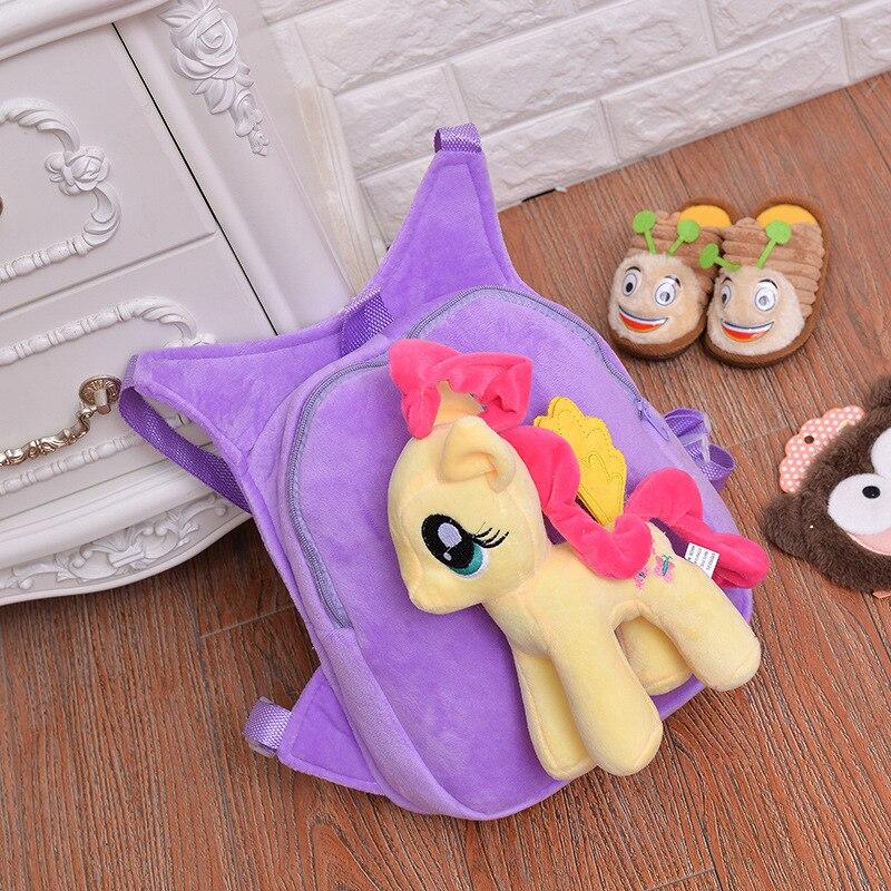 Cute-Soft-Cartoon-Kindergarten-Children-Plush-Backpack-Pony-Plush-Toy-Preschool-Baby-Bag-Gift-for-Kids-1-5-Years-Old-1pc-1