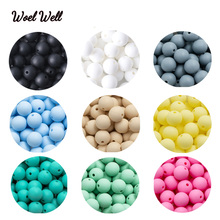 Woel Well 12mm Silicone Beads 30pcs Round baby Silicone Teething Beads BPA Free