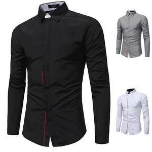 Men Shirts Button Turn-Down-Collar Slim-Fit Long-Sleeve Male Plus-Size Casual Camisa Masculina