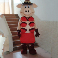 Puppets Striptease Pig Swinish Mascot Costume Halloween Party Adult Size Party Outfits Fancy Dress Free Shipping