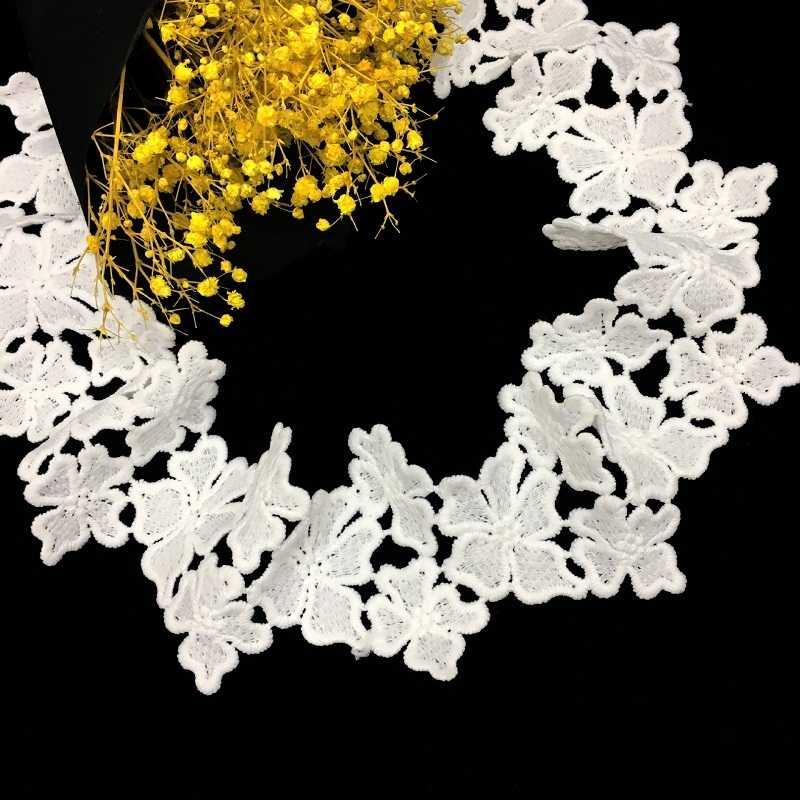 1 Yard 6.5 cm Mooie Bloem Kant Trim Lint Guipure Bloemen Rand Kant Stof voor Naaien DIY Ambachten Decoratieve Accessoires