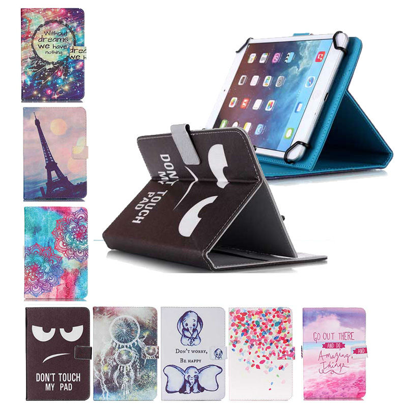 Wallet Leather Stand Cover Case Universal For 10.1 inch Tablet Oysters T12 3G Tablet bags+ Screen Protector + Pen