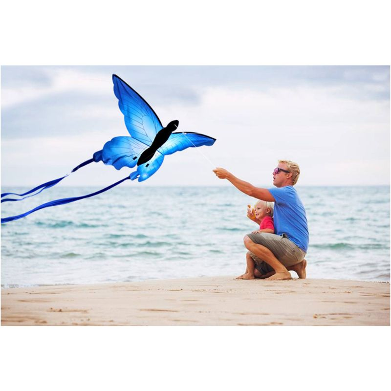 Blue Butterfly Single Line Kite /& 30M Kite Line Outdoor Toy Kid Sport Gift 2020