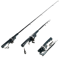 133 cm Foldable Fishing Rod Reel Combo Mini Telescopic Fishing Pole Carp Fishing Tackle