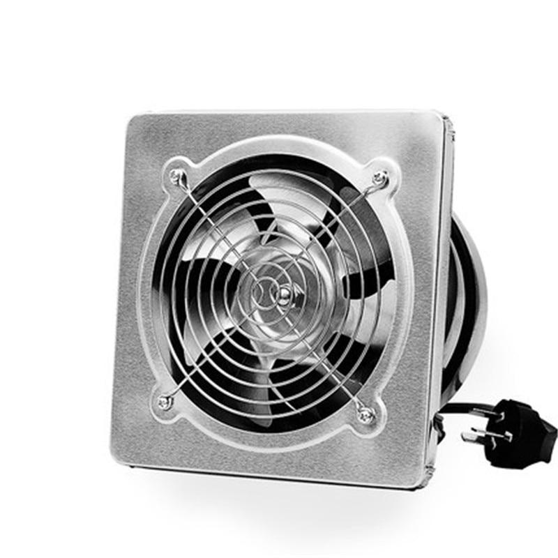 220V 40W Stainless Steel Fan Blower Industrial Exhaust Fan Kitchen Smoke Ventilation Fan 6 Inch 190*190mm fan window kitchen fume exhaust fan mute shutter blower