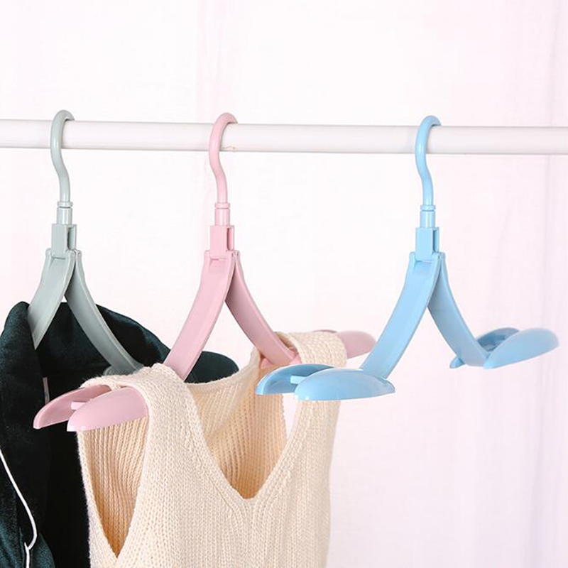 Portable Foldable Clothes Hanger Portable Cloth Hangers Organizer For Bathroom Bedroom Wall Door Closet Accessories