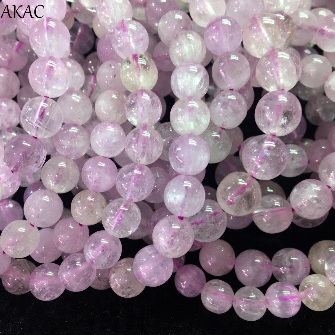 Genuine kunzite bracelet beads 7 7 5mm 8 8 5mm A kunzite bracelet loose beads semi