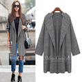 2015 Nova Moda das mulheres blazers e casacos da longo-luva Plus Size blazer plissado Longo design doces cor blazer Outerwear casacos & coats