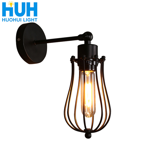 vintage wall lamp American indoor light bedside lamps aisle industrial sconce bedroom for home lighting 110V/220V E27 Wall light 1