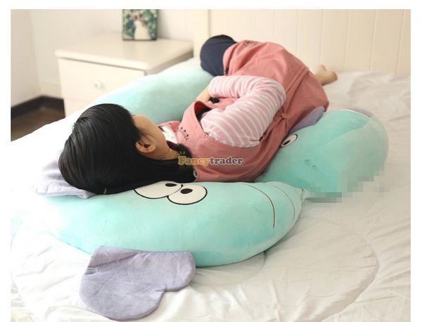 Fancytrader New 47'' / 120cm Lovely Big Plush Stuffed Giant Multifunctional Cartoon Elephant Pillow Bed, Free Shipping FT50890 - 6