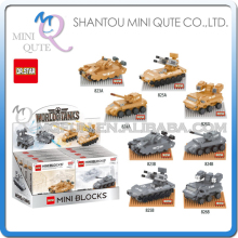 Full Set Mini Qute DR.STAR 8pc/lot military army fighting war tank Vehicle plastic building blocks model figures educational toy