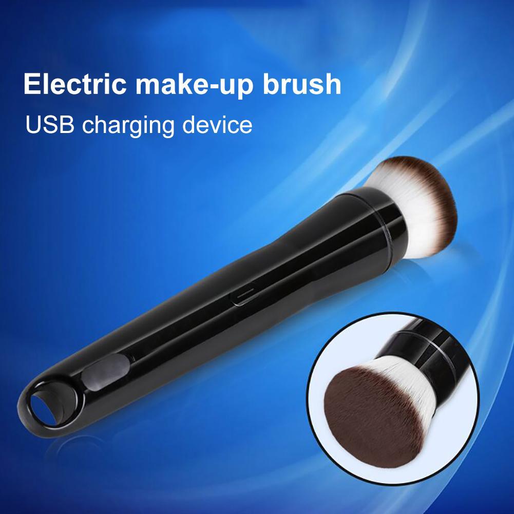 USB Charge 360 Degree Rotation Soft Bristles Loose Powder Electric Makeup Brush