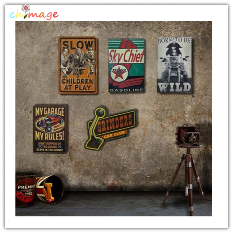 Onregelmatige schaduw Vintage plauurteken plaque Bar pub huis House Cafe Restaurant Wanddecor Retro Metal ART