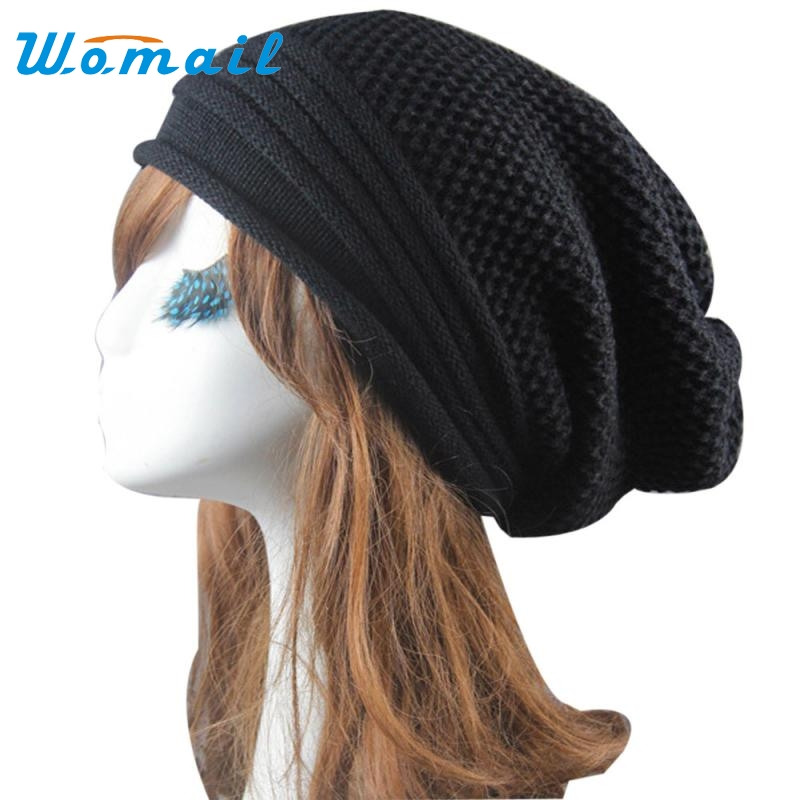 Hot Skullies Beanies Winter Hat For Women Girl Hip-Hop Hat Baggy Ski Cap Vintage Solid Warm Spring Autumn Hat Female WSep21 2017 new lace beanies hats for women skullies baggy cap autumn winter russia designer skullies