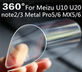 Nano protector de pantalla antichoque suave para meizu u10 u20 nota2 3 Metal Pro5 Pro6 MX5 MX6 Ultra Delgado Proteger A Prueba de Explosiones película