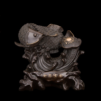Chinese Retro Imitation Antiques Bronze Fish Sculpture Artwork Statue Top Quality New Year Gifts