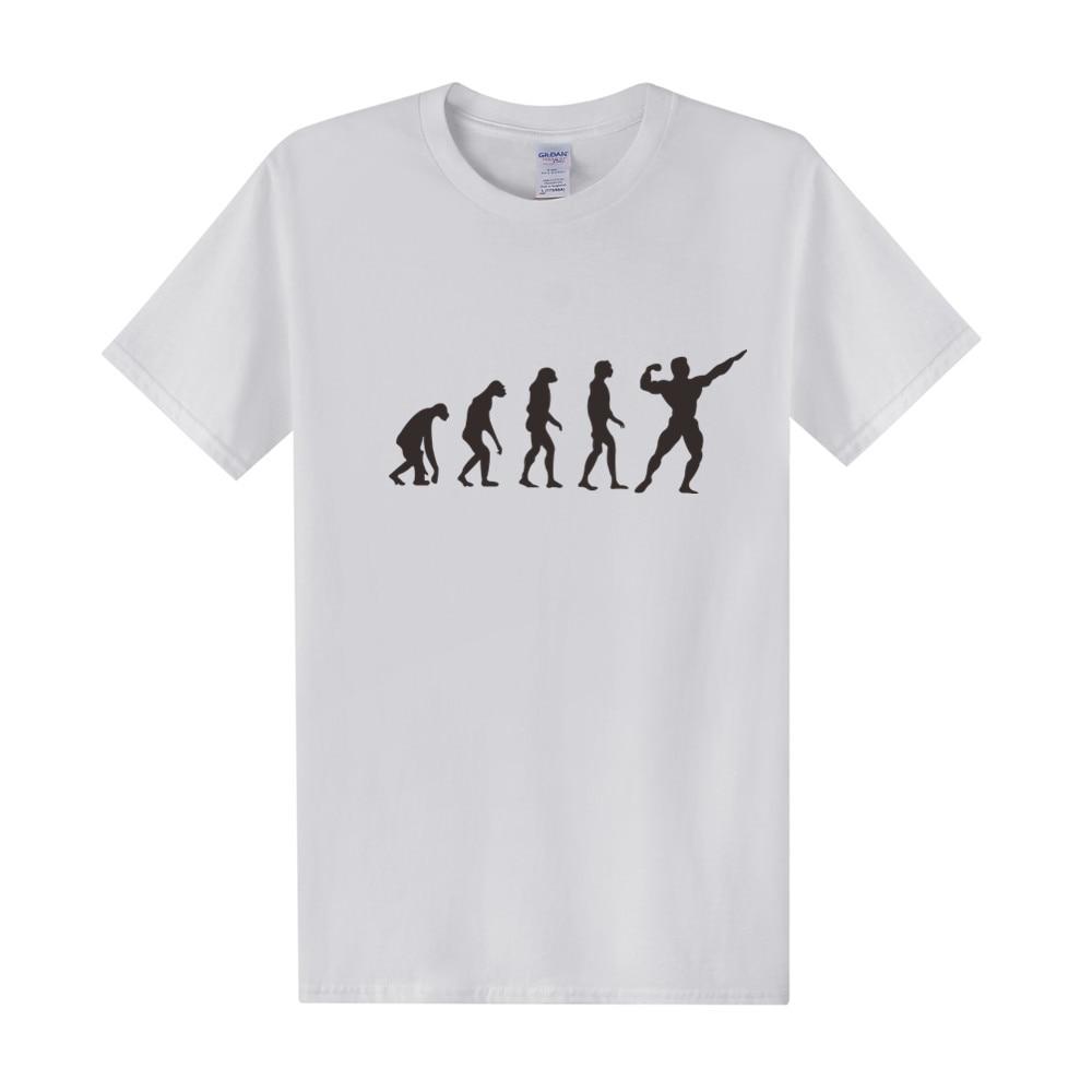 New Fashion Evolution Crossfit T Shirt Mens Funny Cool Fitness T Shirt Cotton Short-Sleeve T-shirt Plus Size Tees Top OT-011